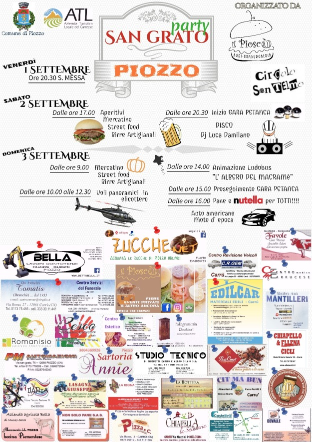 San Grato Piozzo Party