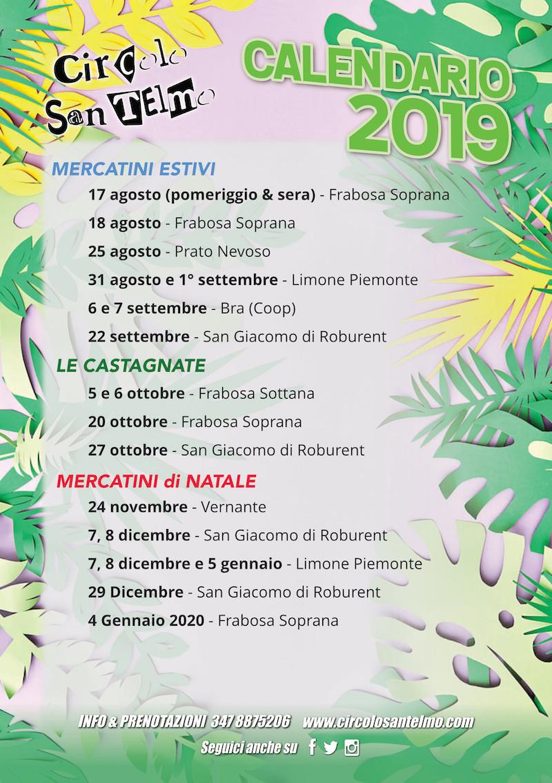Calendario 2019 Circolo Santelmo